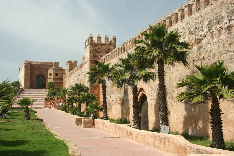 Paredes de Rabat foto de stock