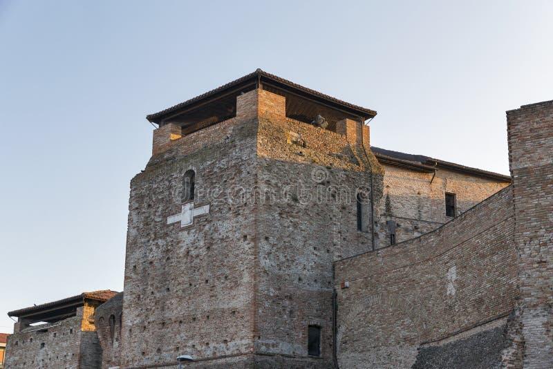 Paredes de Sigismondo Castle medieval en Rímini, Italia fotografía de archivo libre de regalías