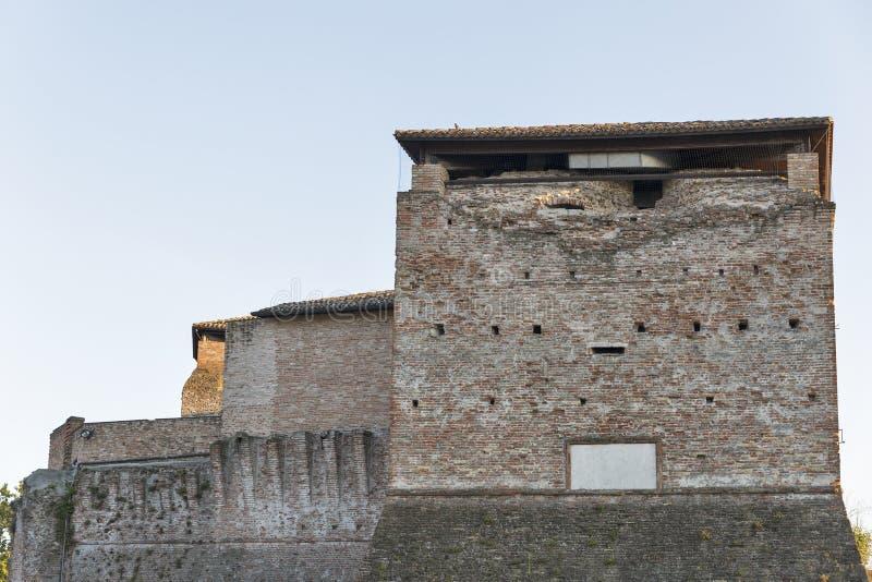 Paredes de Sigismondo Castle medieval en Rímini, Italia fotos de archivo