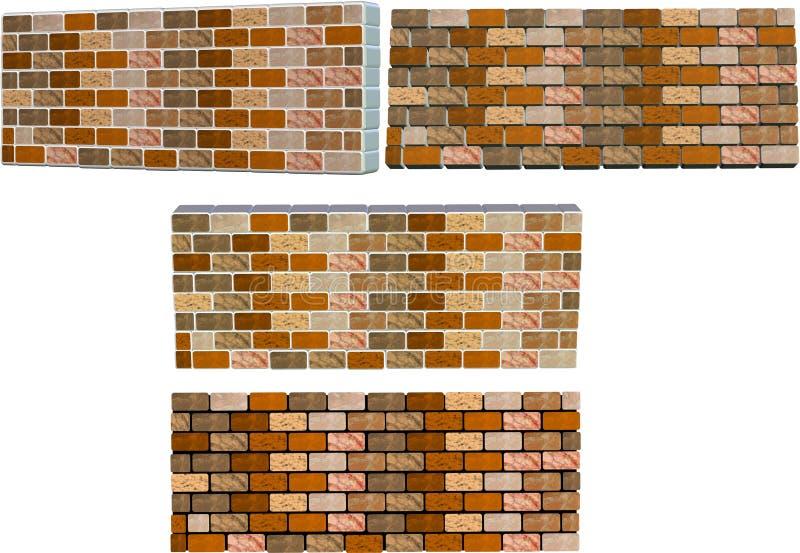 Paredes de tijolo ilustração royalty free