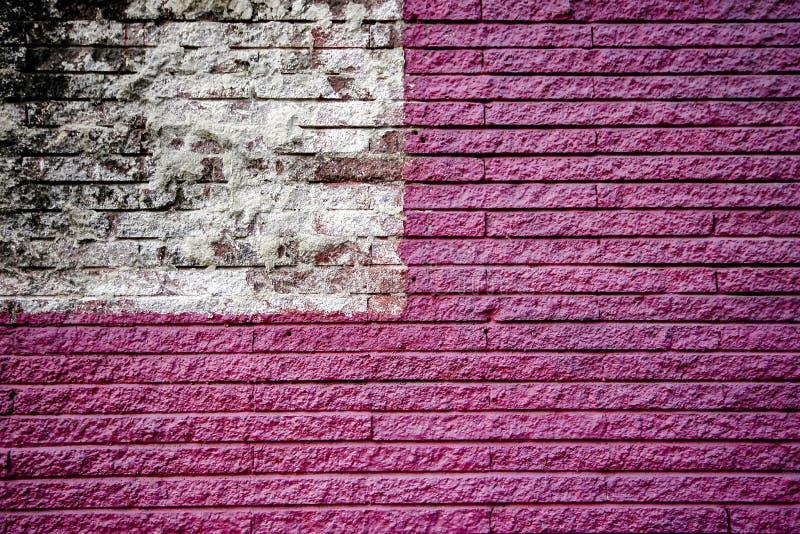 Paredes de tijolo cor-de-rosa e brancas foto de stock royalty free
