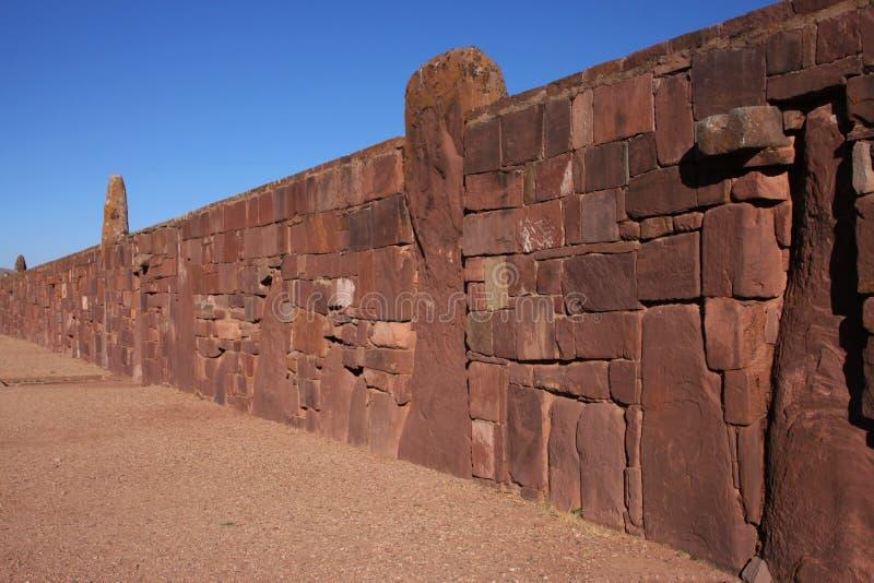 Paredes de Tiwanaku fotos de stock royalty free