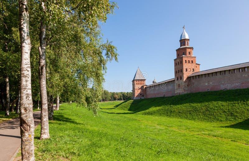 Paredes del Novgorod el Kremlin, Rusia foto de archivo