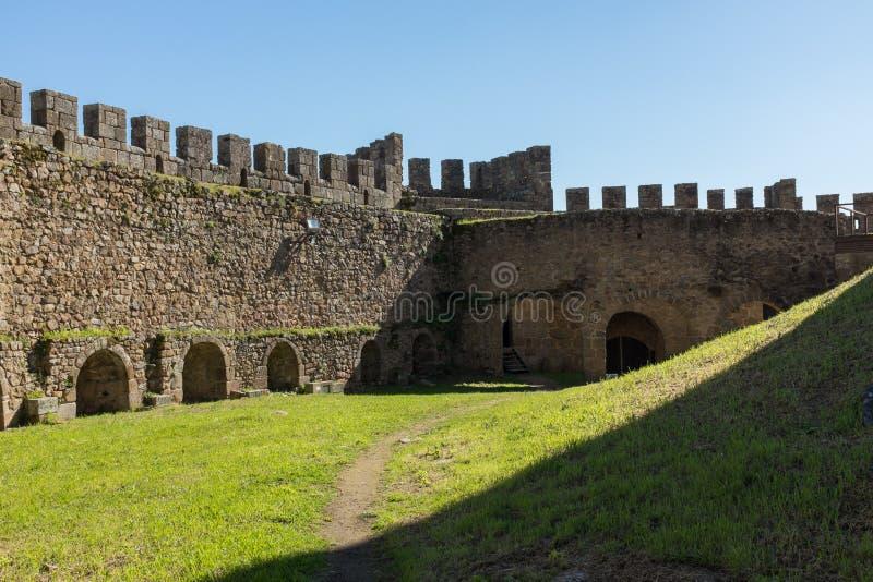 Paredes do castelo de Belver fotografia de stock royalty free