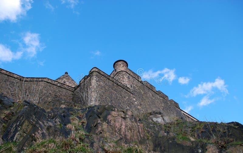 Paredes do castelo de Edimburgo fotos de stock