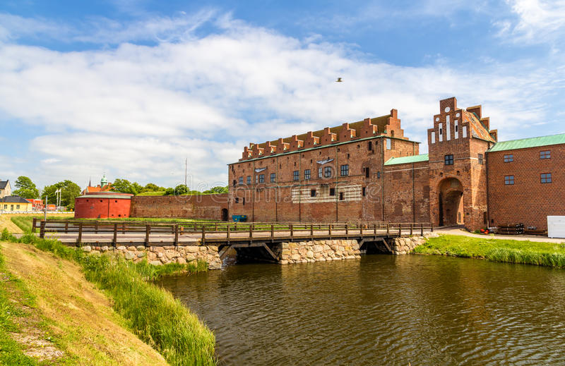 Paredes do castelo de Malmo fotos de stock royalty free