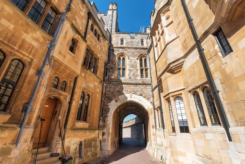 Paredes do castelo de Windsor em Inglaterra, Reino Unido imagem de stock