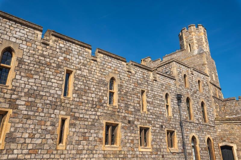 Paredes do castelo de Windsor em Inglaterra, Reino Unido imagem de stock royalty free