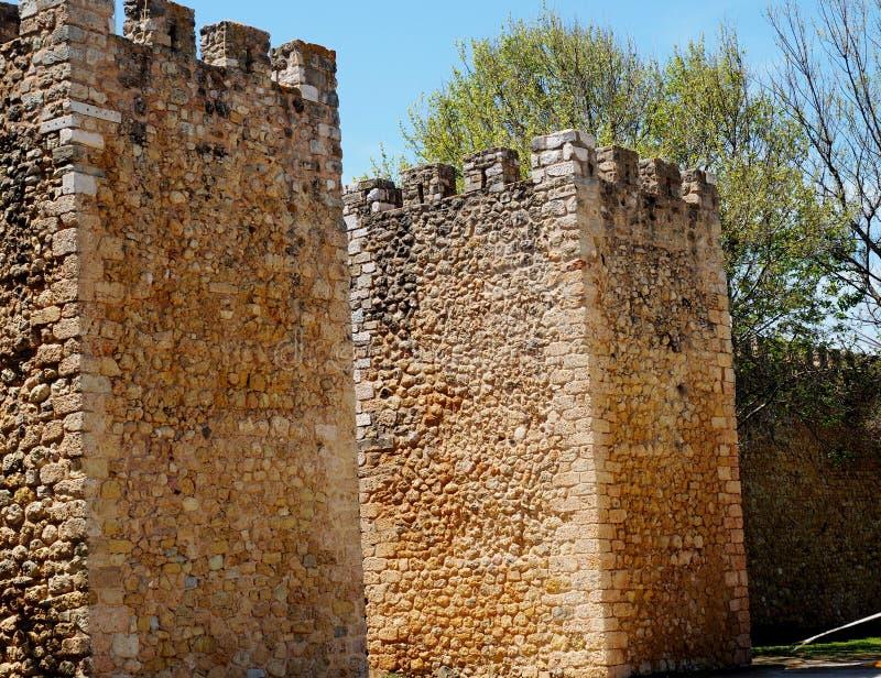 Paredes do castelo em Lagos Portugal fotografia de stock