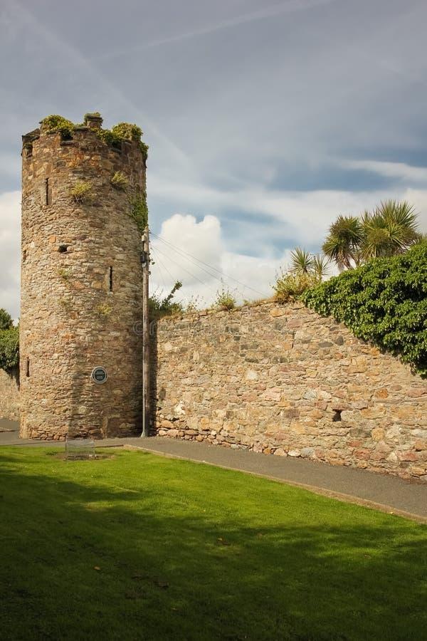 Paredes e torre da cidade Cidade de Wexford Co Wexford ireland imagens de stock