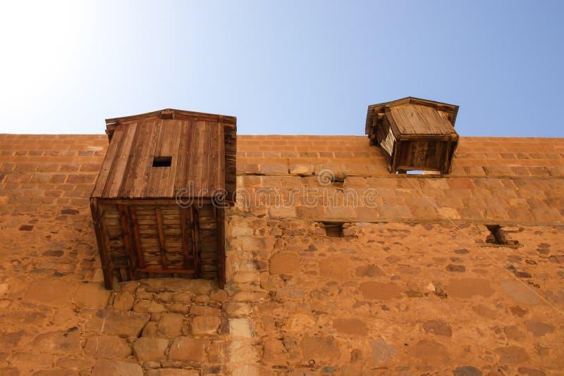 Paredes externas del monasterio de Catherine del santo fotos de archivo