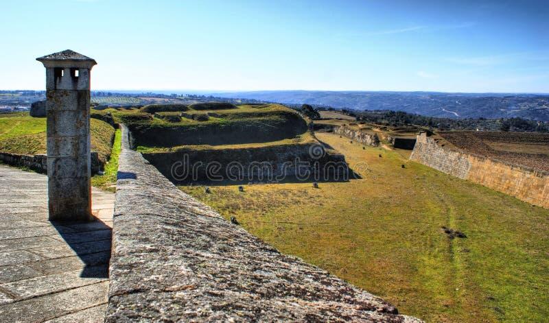 Paredes fortificadas pueblo histórico de Almeida foto de archivo libre de regalías