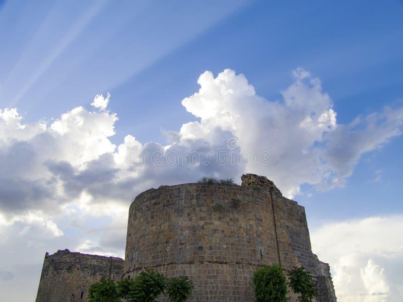 Paredes históricas de la ciudad del pavo de Diyarbakir fotos de archivo libres de regalías