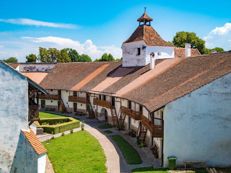 Paredes interiores de Harman Fortified Church imagens de stock royalty free