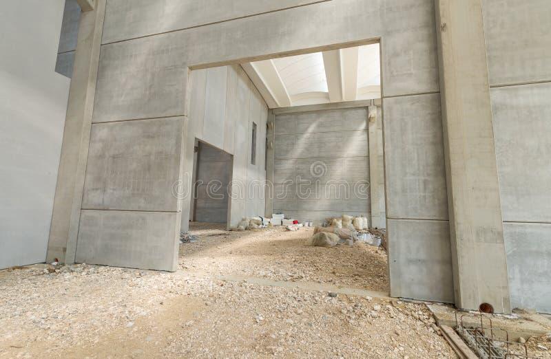 Paredes interiores del edificio bajo construcción fotografía de archivo