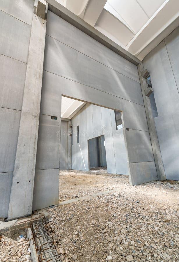 Paredes interiores del edificio bajo construcción foto de archivo libre de regalías