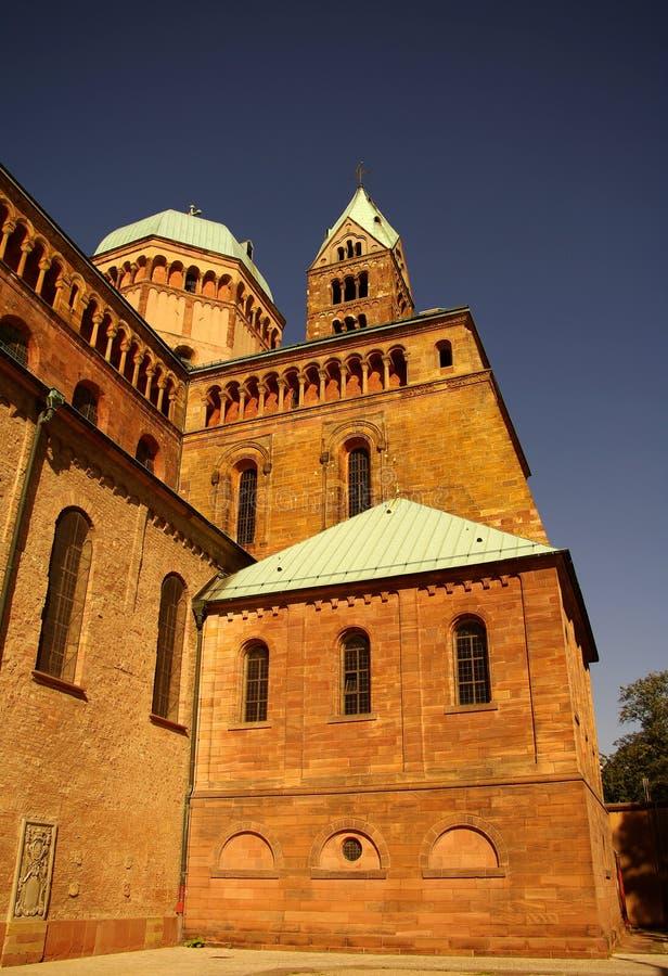 Paredes laterais da catedral de Speyer, Speyer, Alemanha imagens de stock royalty free