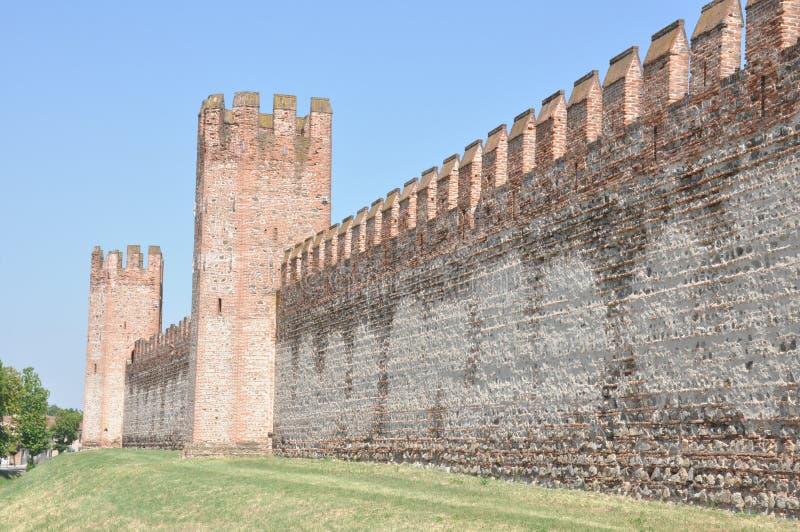 Paredes medievales de Montagnana Padua fotografía de archivo libre de regalías