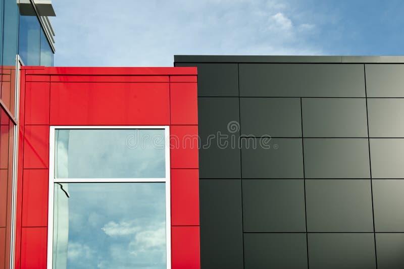 Paredes pretas e vermelhas imagem de stock