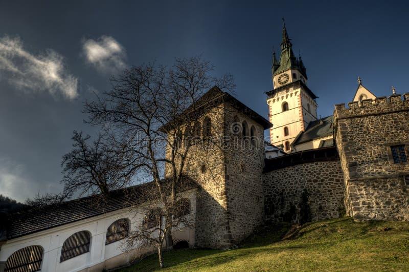 Paredes que cercam o castelo da cidade imagem de stock royalty free