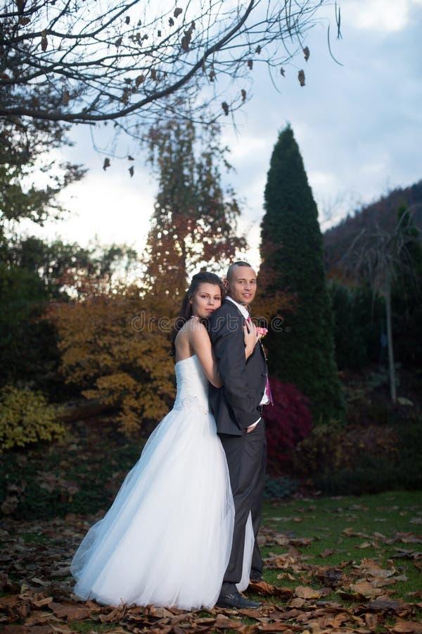 Pareja casada feliz fotografía de archivo libre de regalías
