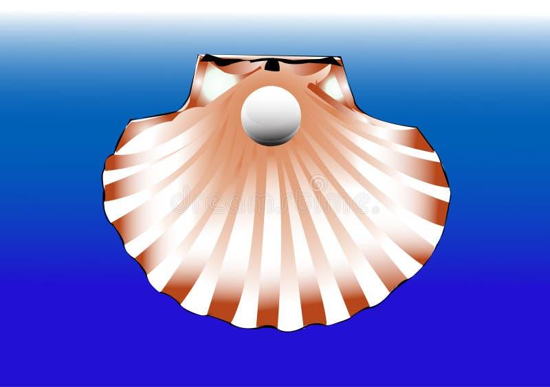 Parel en shell royalty-vrije illustratie