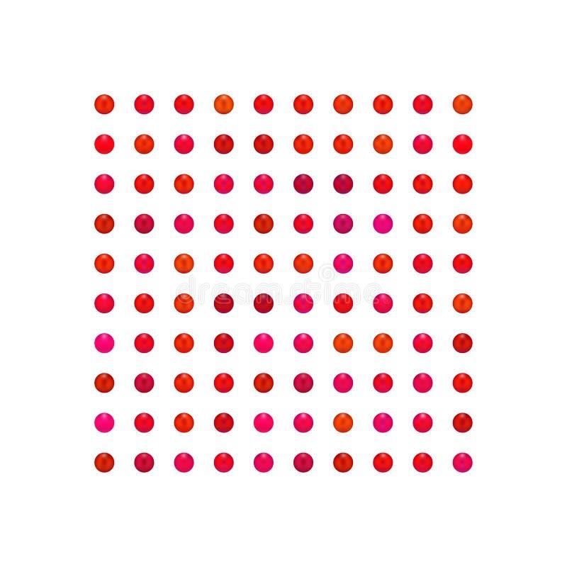 Parel, reeks van de suikergoed de kleurrijke rode toon, lippenstiftreeks vector illustratie