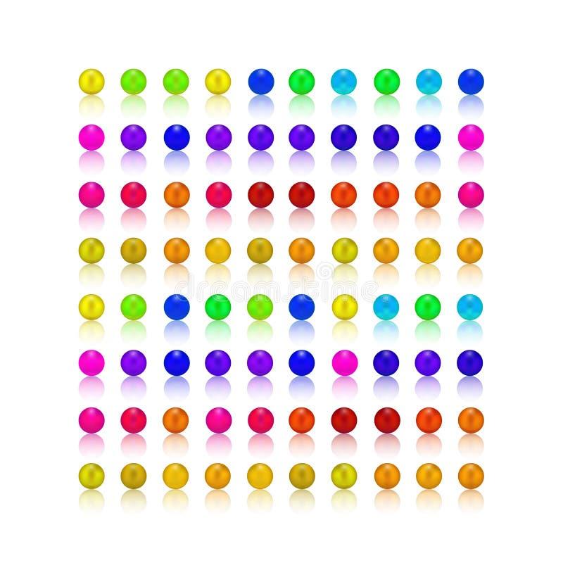 Parel, suikergoed kleurrijke reeks stock foto's