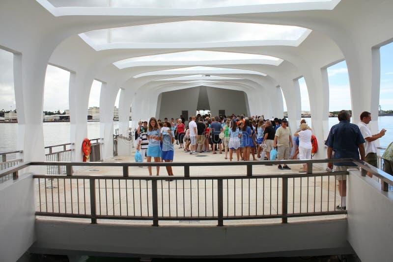 Parelhaven, het gedenkteken van USS Arizona royalty-vrije stock foto's