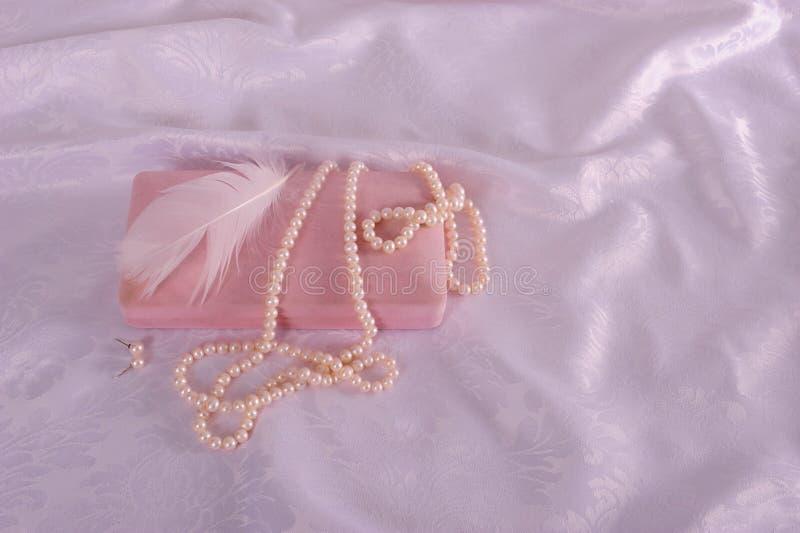 Parellen en roze draagtas stock foto's