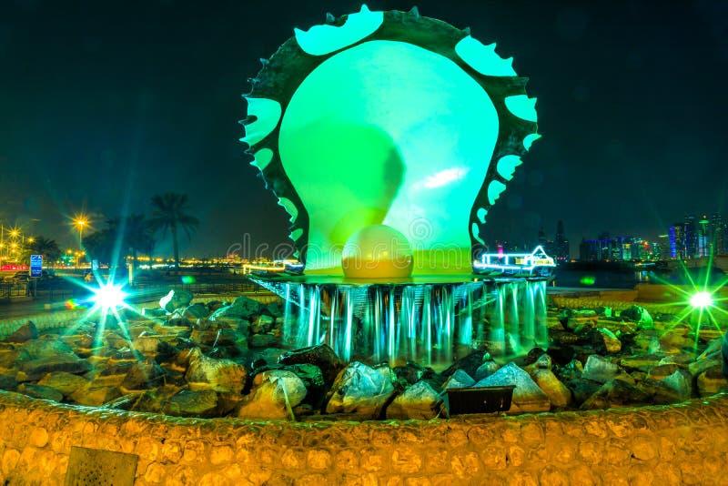 Parelmonument Doha royalty-vrije stock foto's