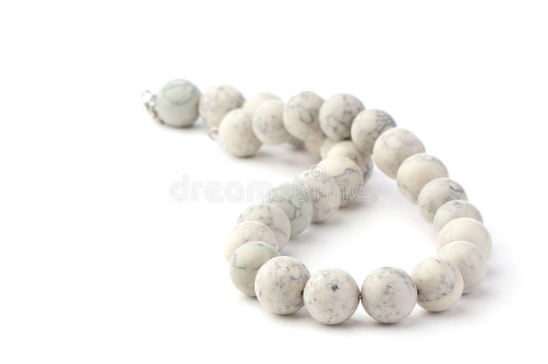 Parels die van witte steenclose-up worden gemaakt stock afbeelding