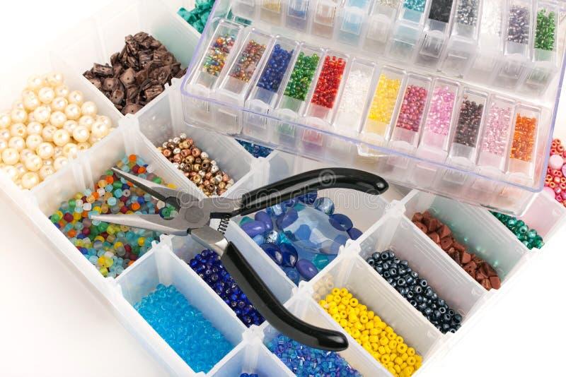 Parels voor het Maken van Juwelen stock afbeeldingen