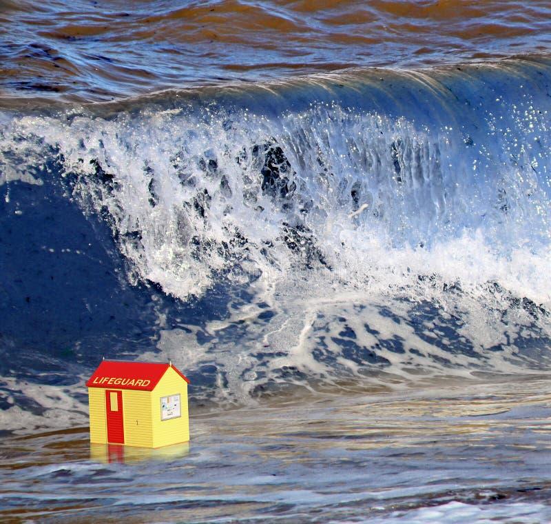 Parement de la vague de tueur photos stock