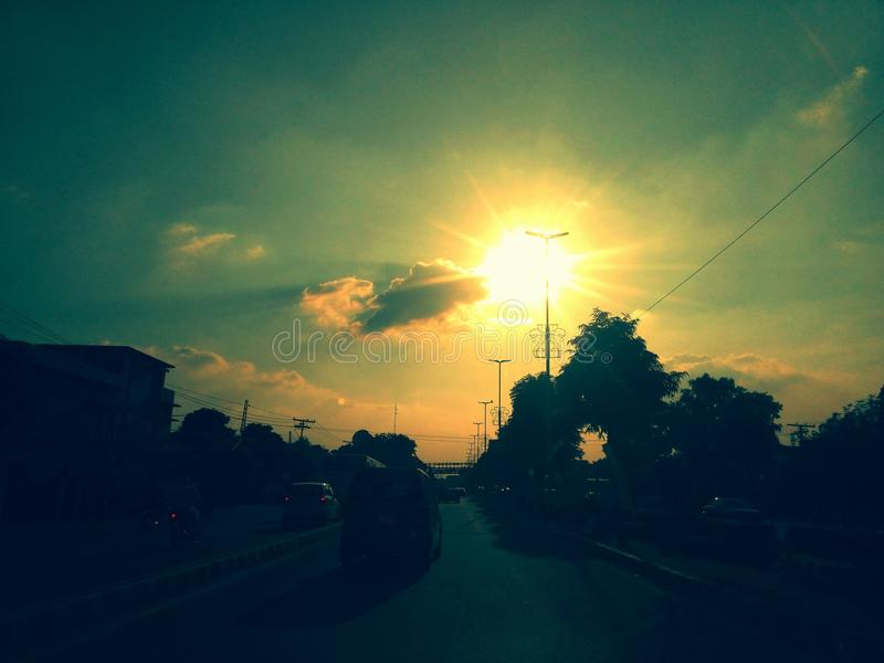 Parement du soleil de Th photo libre de droits