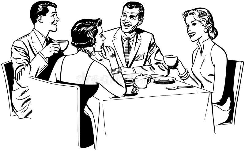 Paren het Dineren stock illustratie