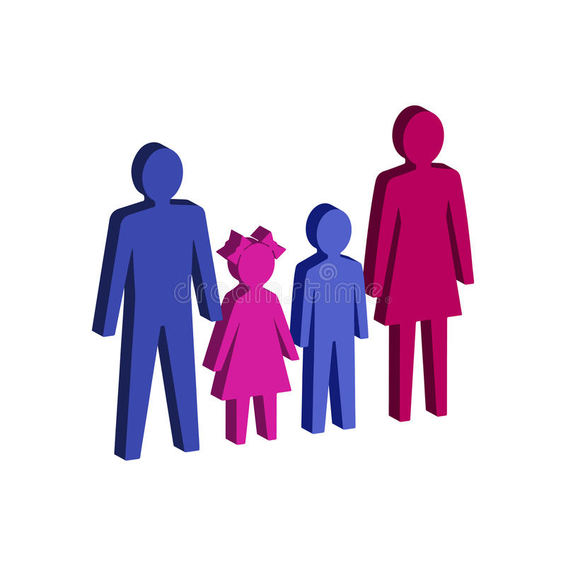 Parent with children, Family symbol. royalty free illustration