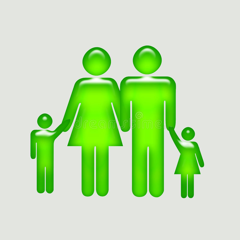 Parent Guide. Family Button for your website stock illustration