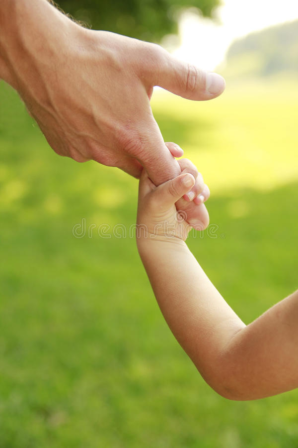 Download Parent Holds The Hand Of A Small Child Stock Photo - Image of family, love: 33607022
