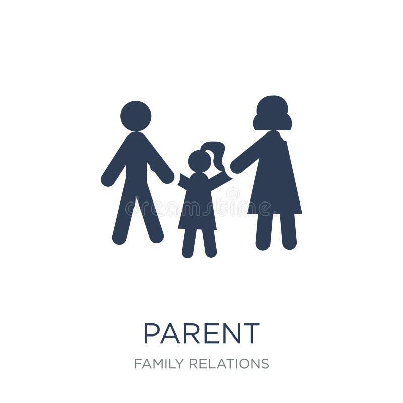 parent icon. Trendy flat vector parent icon on white background stock illustration
