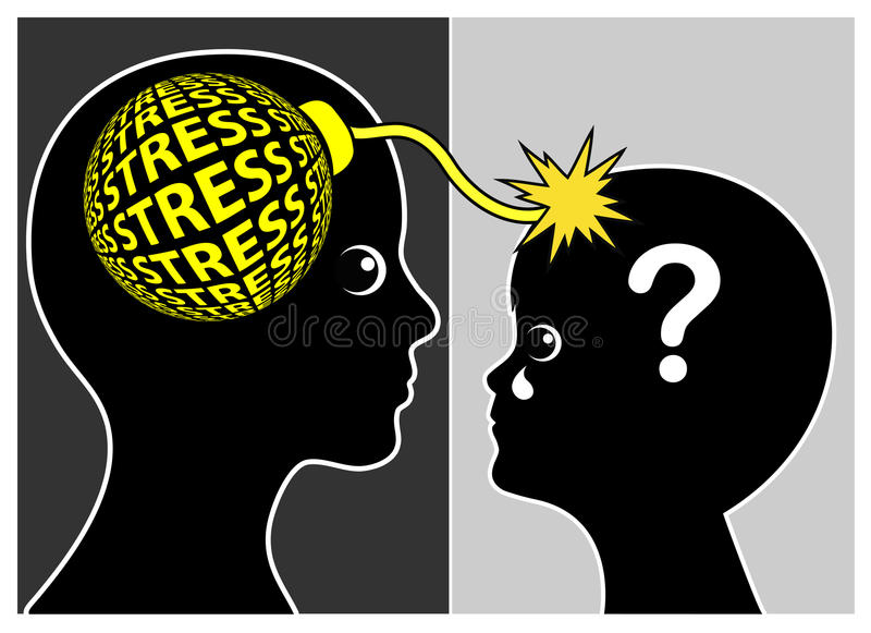 Parental Stress affects Child vector illustration
