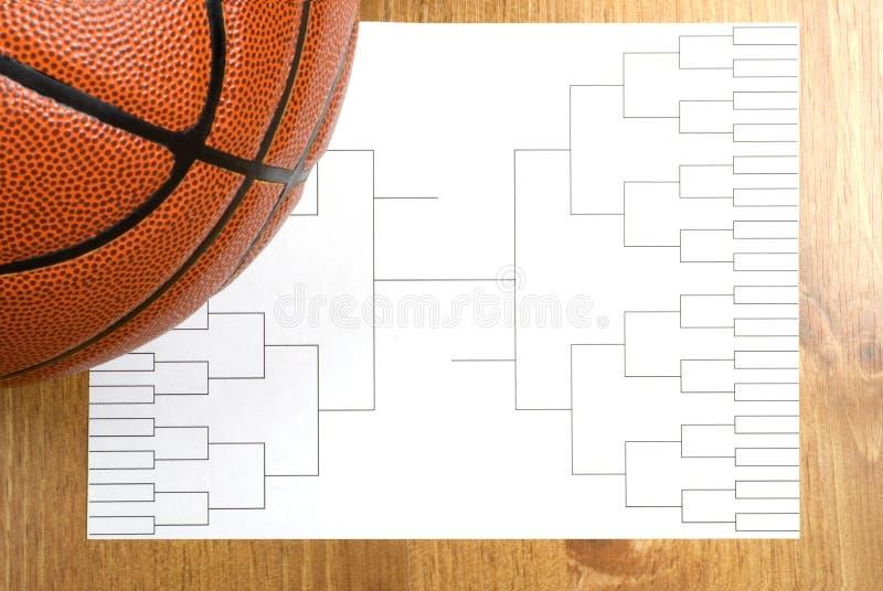 Parentesi e pallacanestro di torneo di pallacanestro fotografia stock