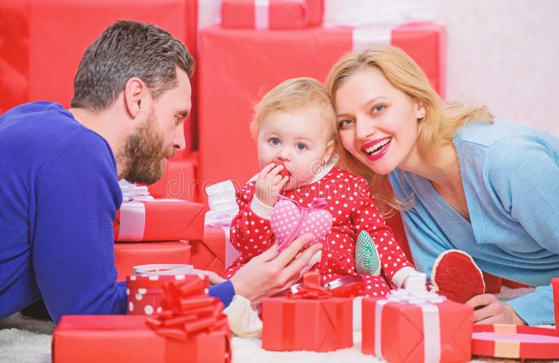 Parenthood awarded with love. Happy to be together. Family values. Love joy and happiness. Family love concept. Celebrate valentines day. Couple in love with stock image
