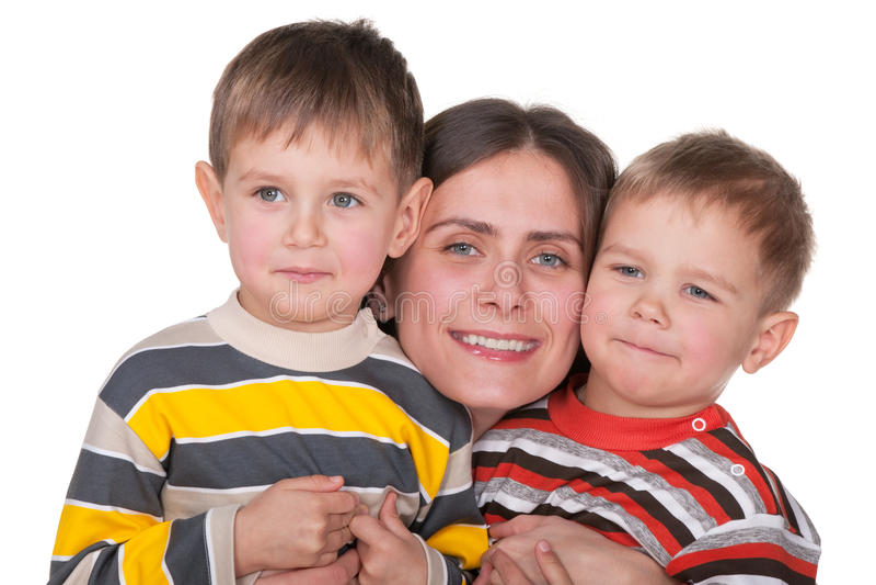 Parenting brengt geluk royalty-vrije stock afbeelding