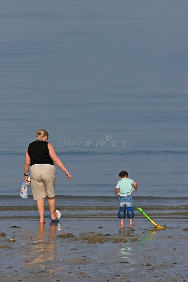 Download Parenting Pleasures stock image. Image of beaches, children - 913437