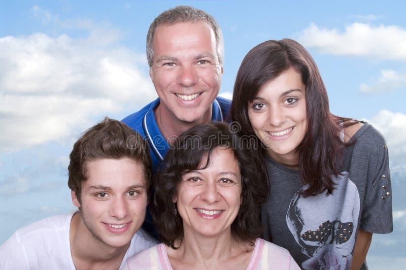 Parents avec des adolescents images libres de droits