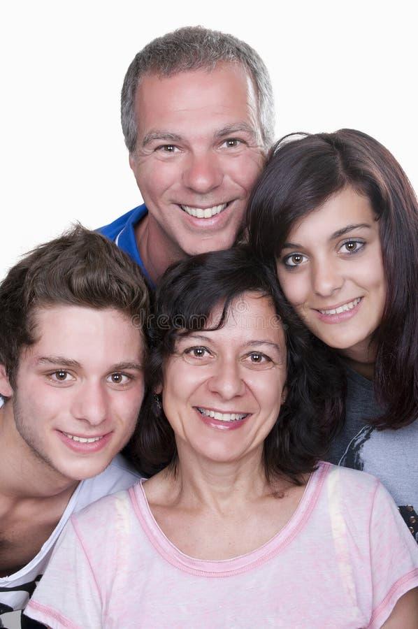 Parents avec des adolescents photographie stock libre de droits