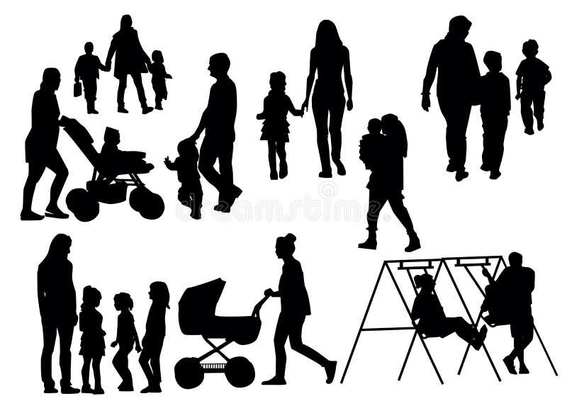 Parents avec des enfants illustration stock
