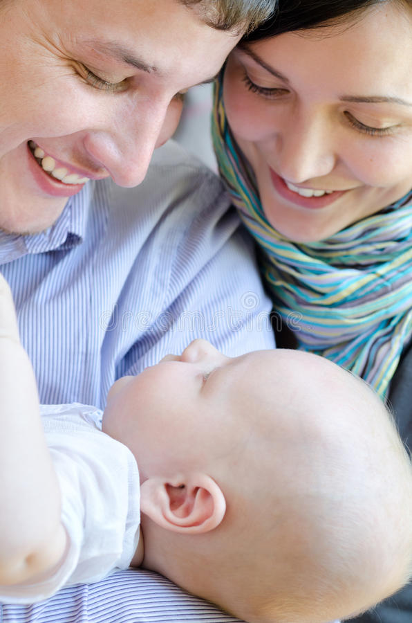 Parents with baby royalty free stock photography