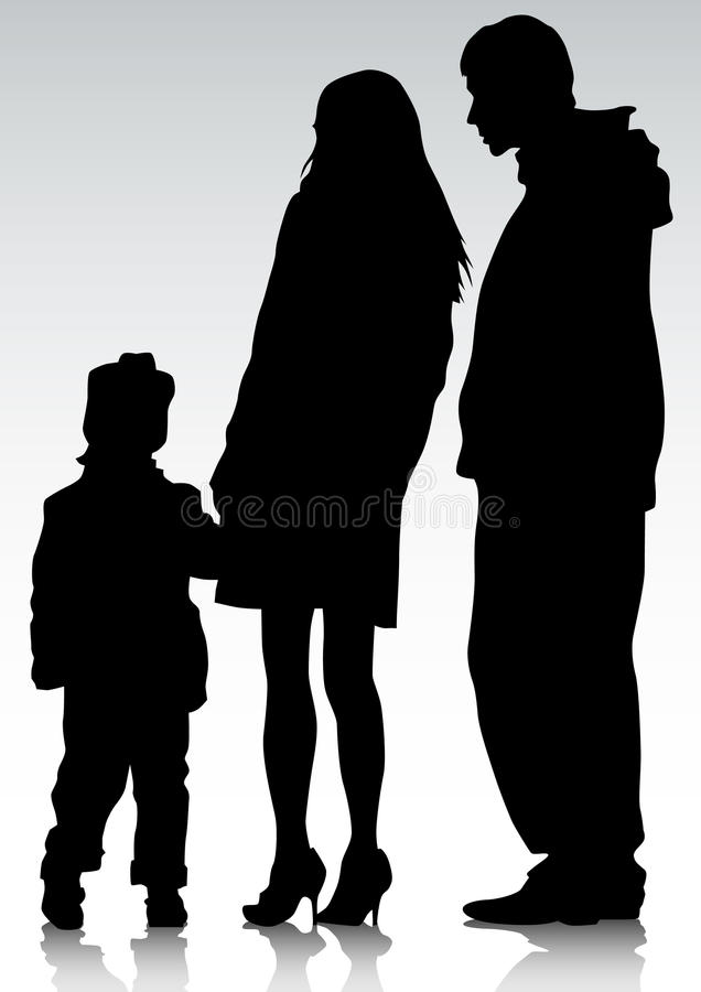Download Parents and child stock vector. Image of childhood, father - 19415681